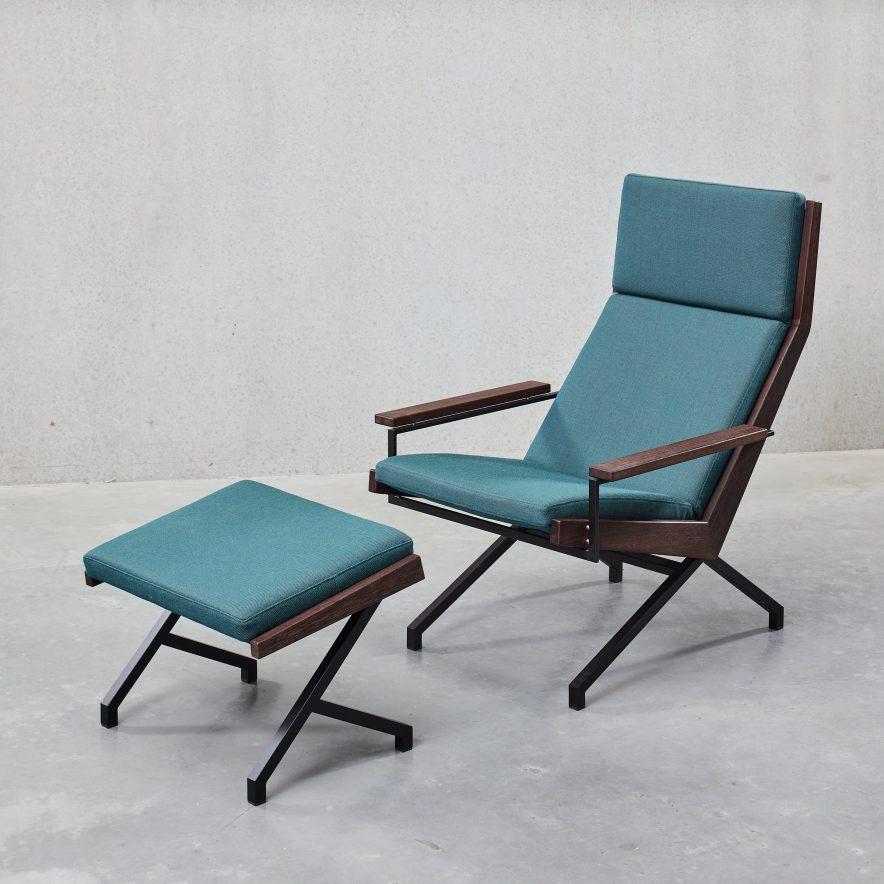 Lotus fauteuil + ottoman | Rob Parry