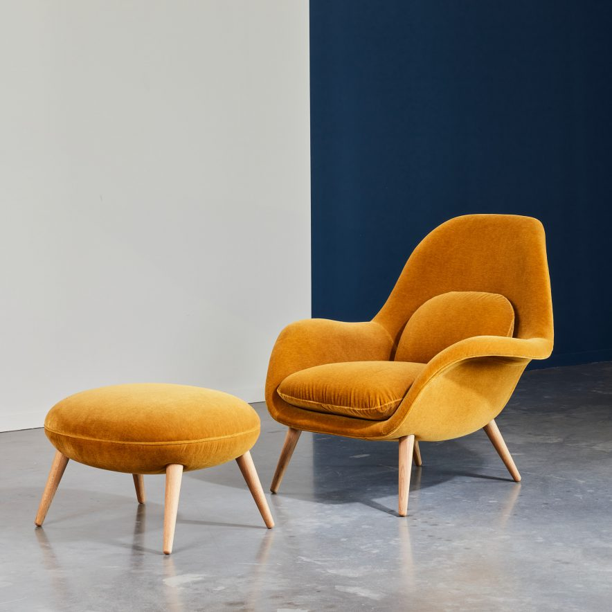 Swoon lounge+ottoman   Fredericia